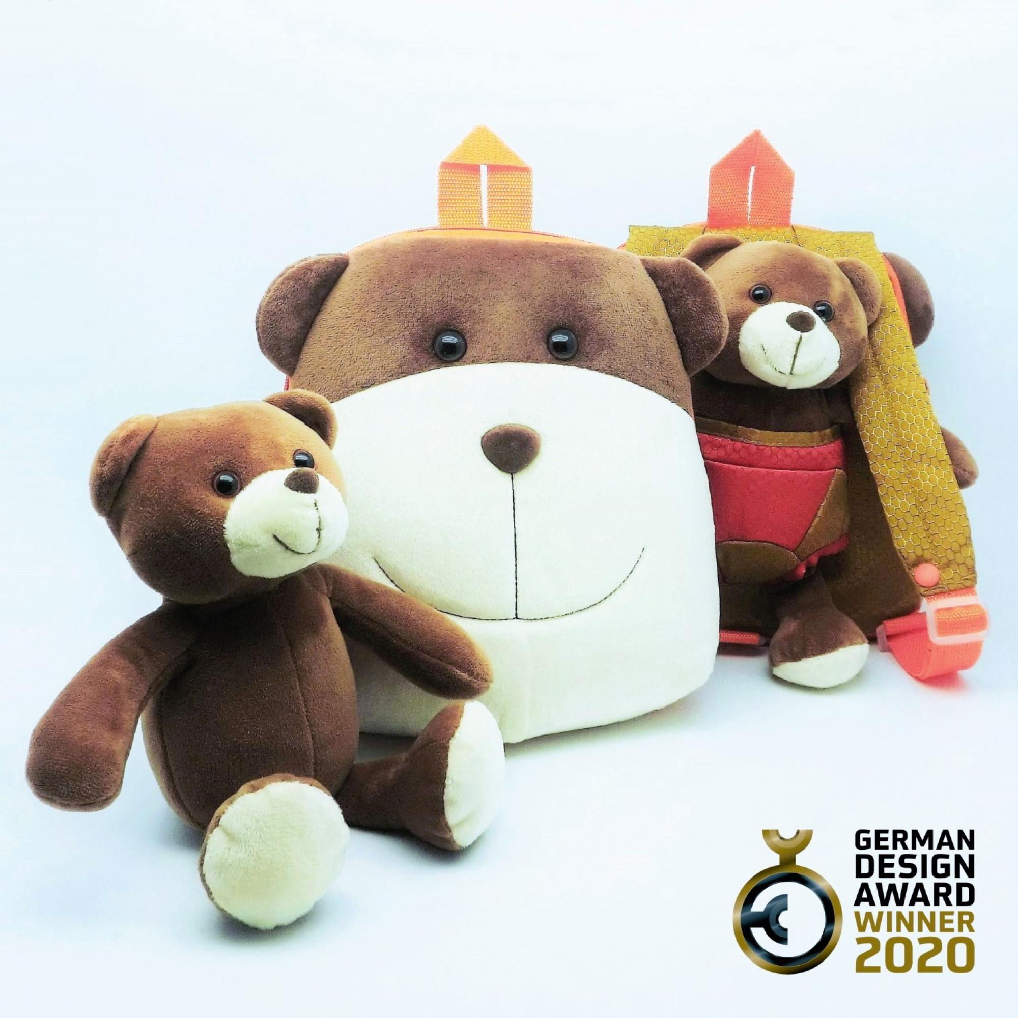 3 in 1 Loyal Bear Dual Face Schoolbag-FOBP2010