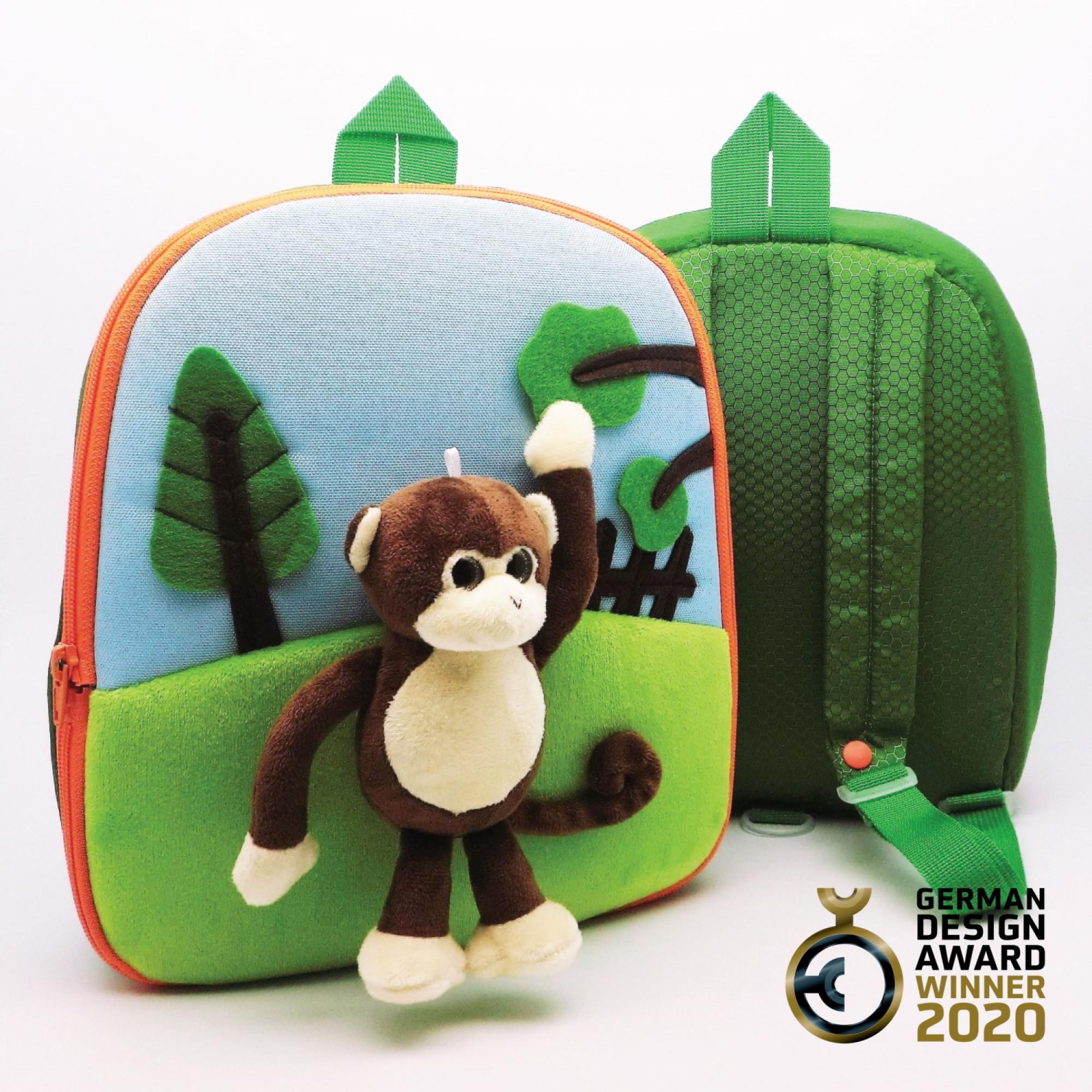 3D Monkey in a Park Rucksack-FOBP2005