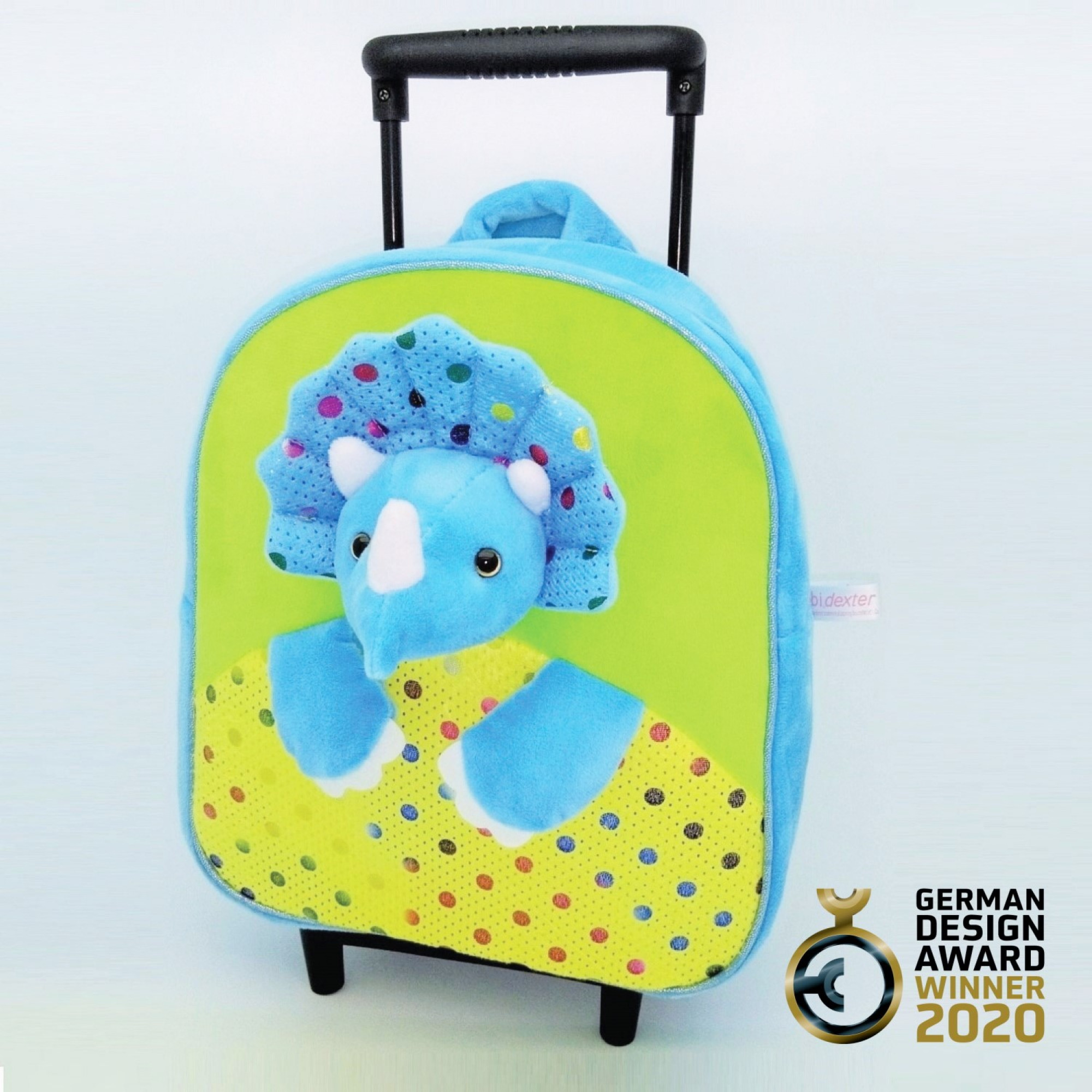 3D Triceratops Detachable Trolley Backpack-TBP2048