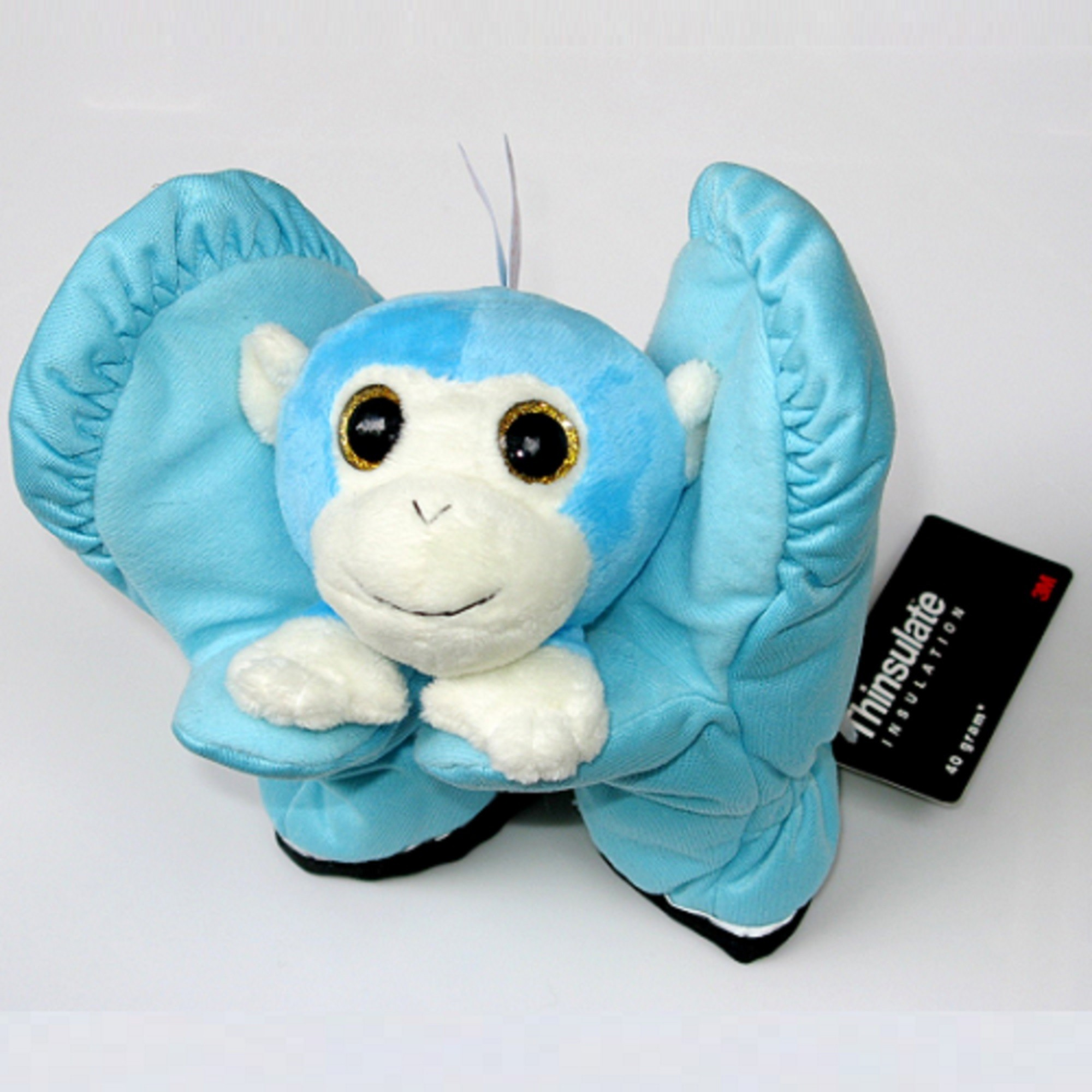 playful mittens with monkey toy - M32