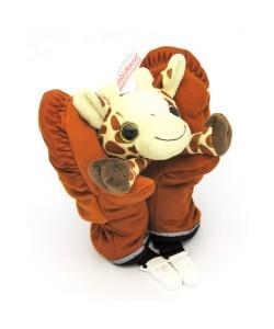 playful mittens with giraffe - M34