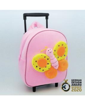3D Butterfly Detachable Trolley Backpack-TBP2046