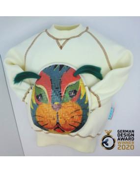 Vibrant Lion Face-Off Sweatshirt-FOS2034