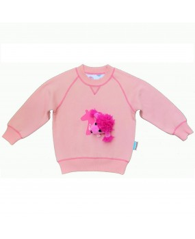 fun to wear sweatshirt with poodle toy - FWS1721