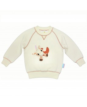 fun to wear sweatshirt with giraffe toy - FWS1724