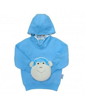 猴子風帽變臉衛衣 - FOH1712